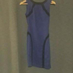 NBW BCX dress navy blue with black line details.